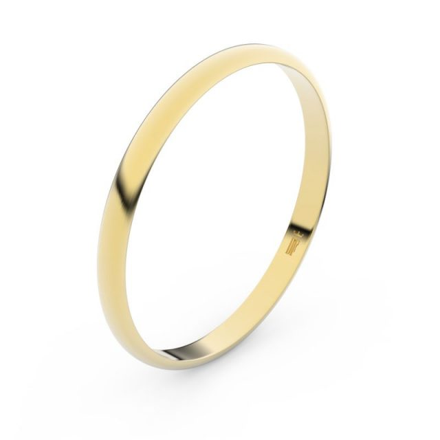 Snubní prsten ze žlutého zlata, Danfil FMR 4H20