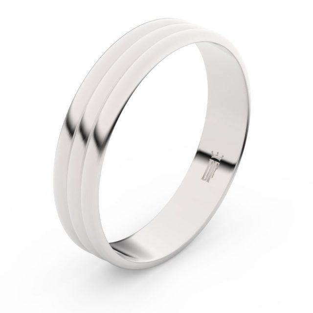 Snubní prsten z bílého zlata, Danfil FMR 4J47