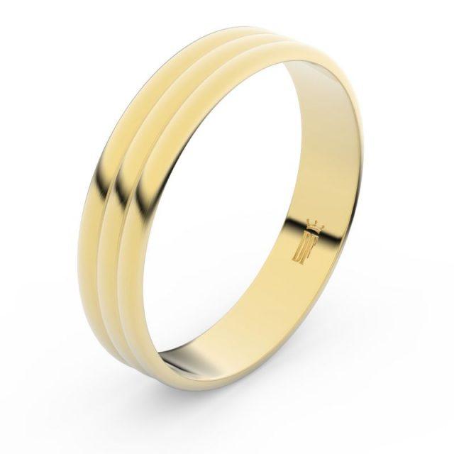 Snubní prsten ze žlutého zlata, Danfil FMR 4J47