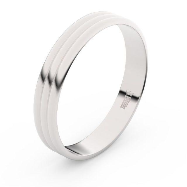 Snubní prsten z bílého zlata, Danfil FMR 4K37