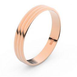 Snubní prsten z růžového zlata, Danfil FMR 4K37