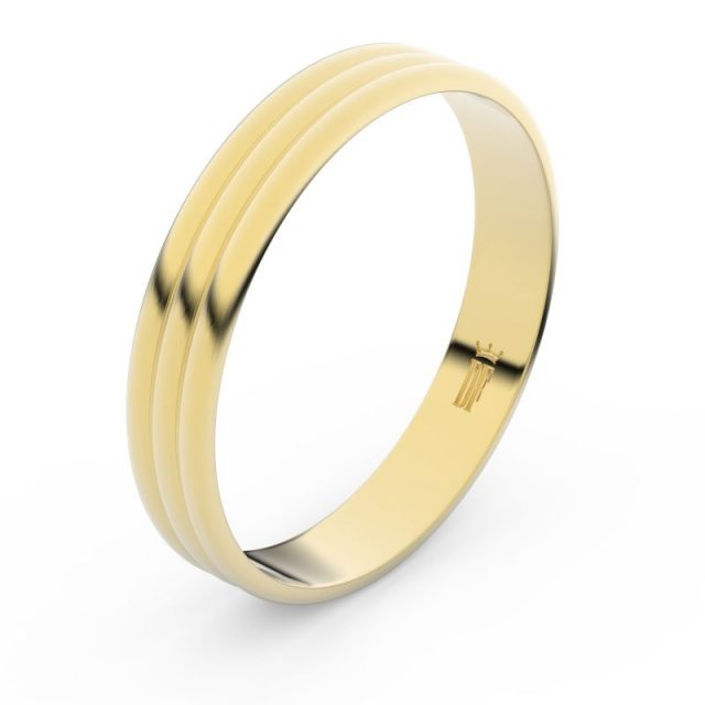 Snubní prsten ze žlutého zlata, Danfil FMR 4K37