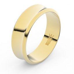 Snubní prsten ze žlutého zlata, Danfil FMR 5B70