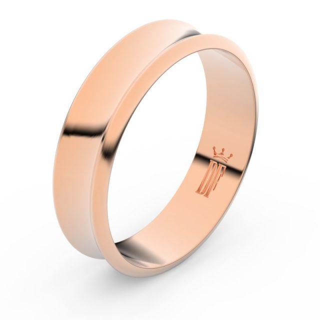 Snubní prsten z růžového zlata, Danfil FMR 5C57