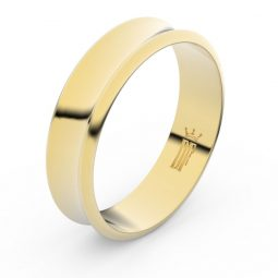Snubní prsten ze žlutého zlata, Danfil FMR 5C57