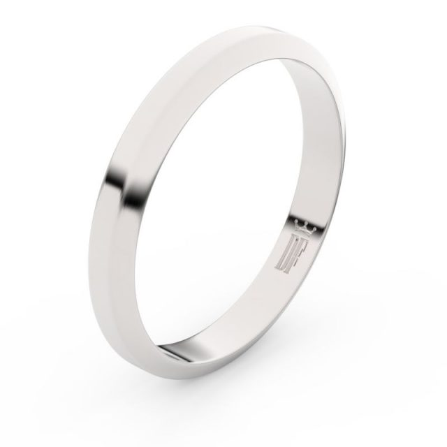 Snubní prsten z bílého zlata, Danfil FMR 6B32