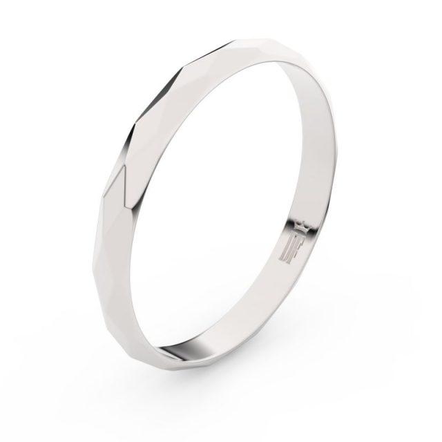 Snubní prsten z bílého zlata, Danfil FMR 830