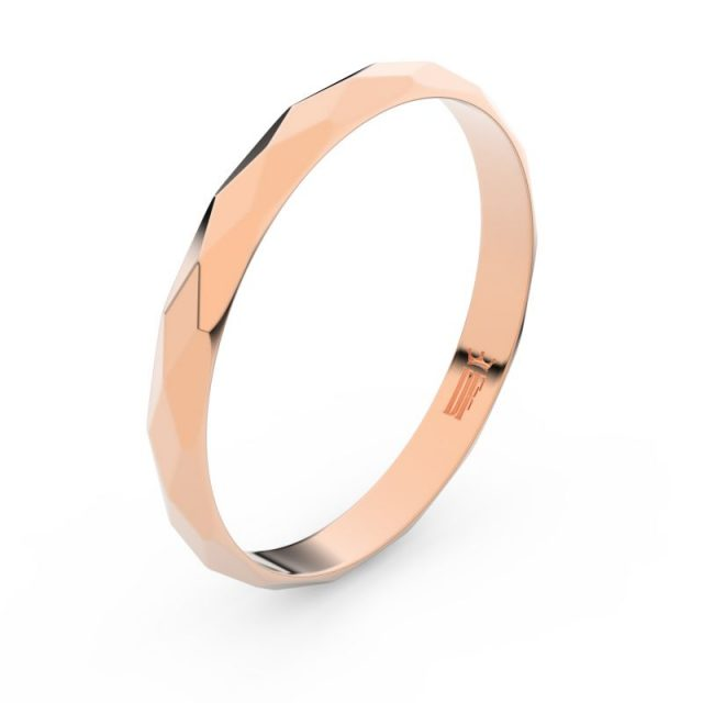 Snubní prsten z růžového zlata, Danfil FMR 8B30