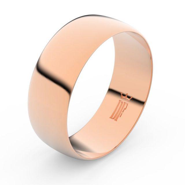 Snubní prsten z růžového zlata, Danfil FMR 9B80