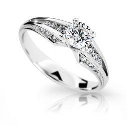 Zásnubní prsten z bílého zlata s diamantem, Danfil DF 2103