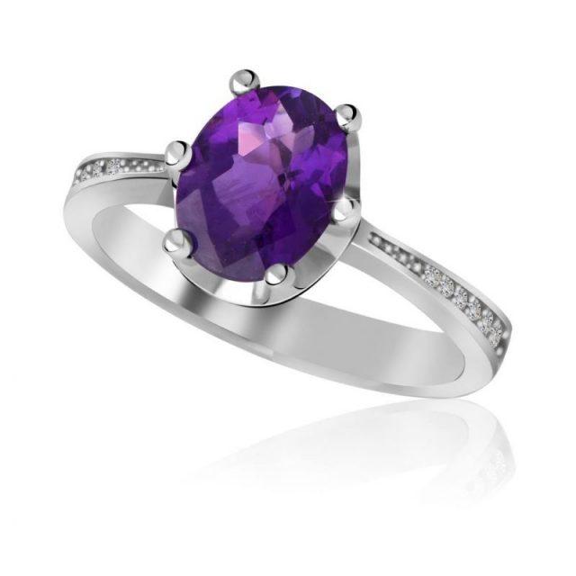 Zásnubní prsten z bílého zlata s diamanty, Danfil DF 3362B