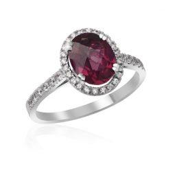 Zásnubní prsten z bílého zlata s diamanty, Danfil DF 3365B