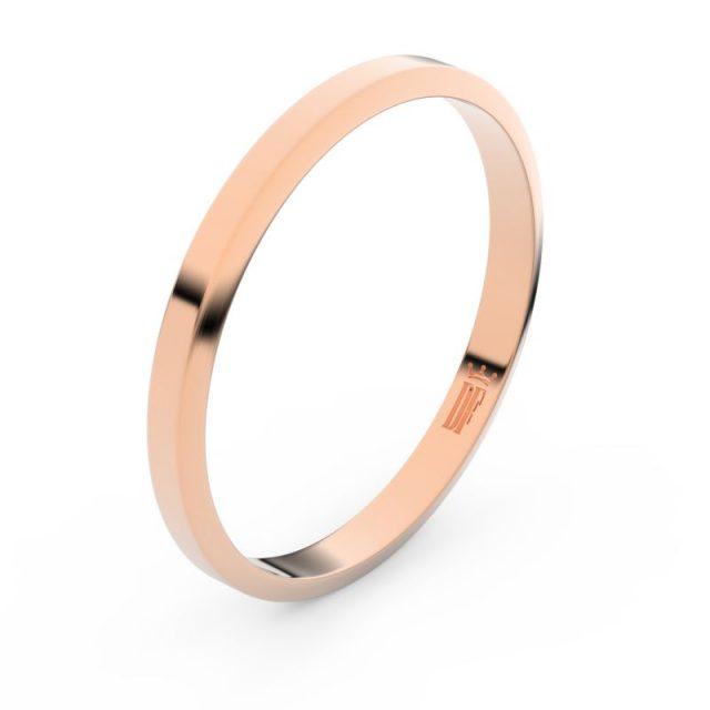 Zlatý snubní prsten FMR 4A25 z růžového zlata