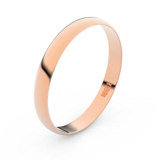 Zlatý snubní prsten FMR 4E30 z růžového zlata