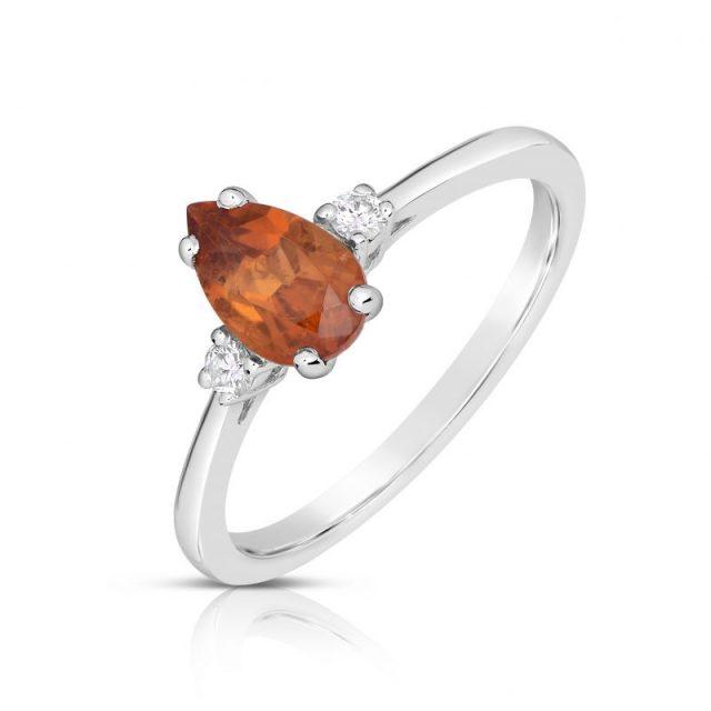 Zásnubní prsten Danfil DF 4290 s diamanty a citrínem