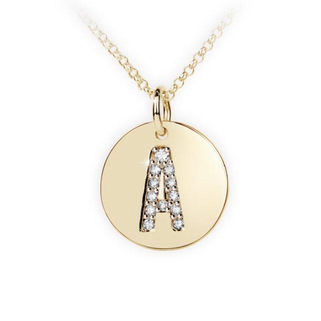 Danfil přívěsek DF 4480 ze žlutého zlata – písmeno A