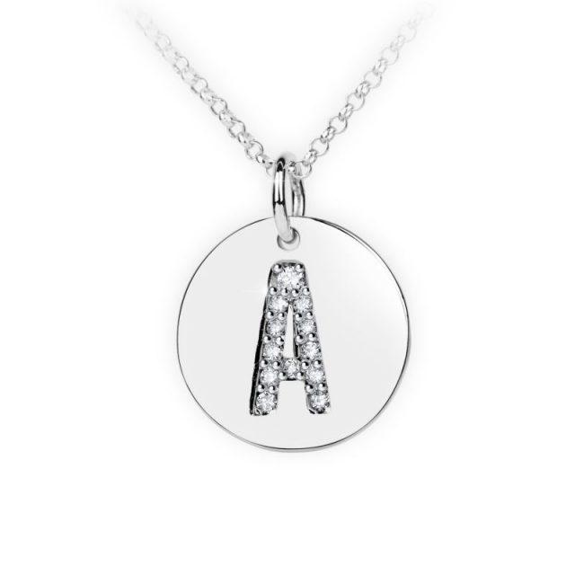 Danfil přívěsek DF 4480 z bílého zlata – písmeno A