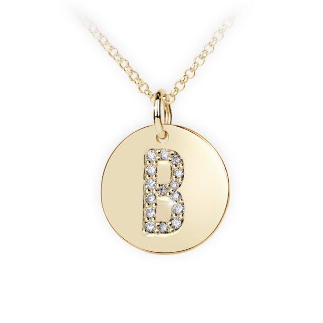 Danfil přívěsek DF 4481 ze žlutého zlata – písmeno B