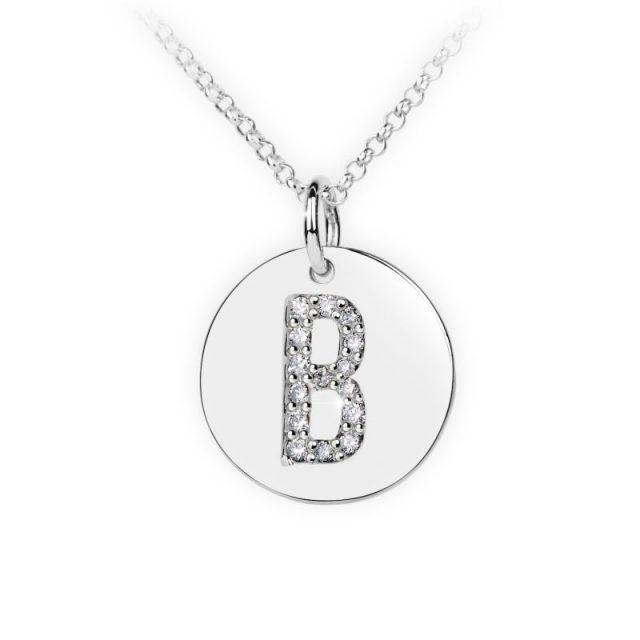 Danfil přívěsek DF 4481 z bílého zlata – písmeno B