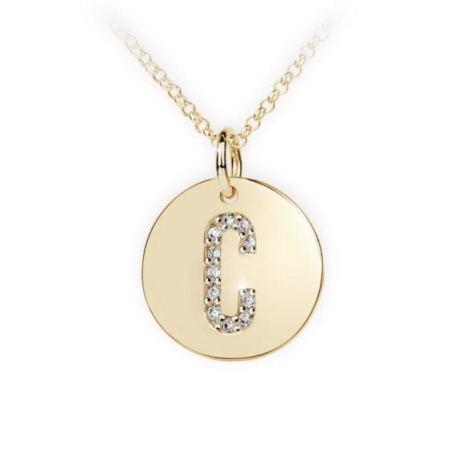 Danfil přívěsek DF 4482 ze žlutého zlata – písmeno C