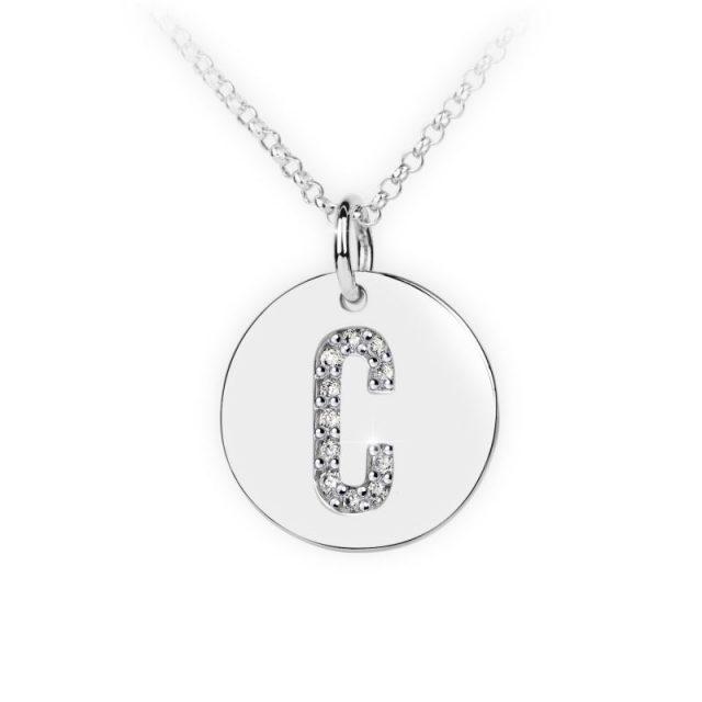 Danfil přívěsek DF 4482 z bílého zlata – písmeno C