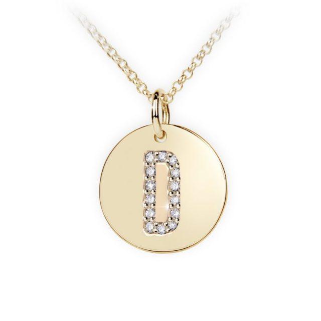 Danfil přívěsek DF 4483 ze žlutého zlata – písmeno D
