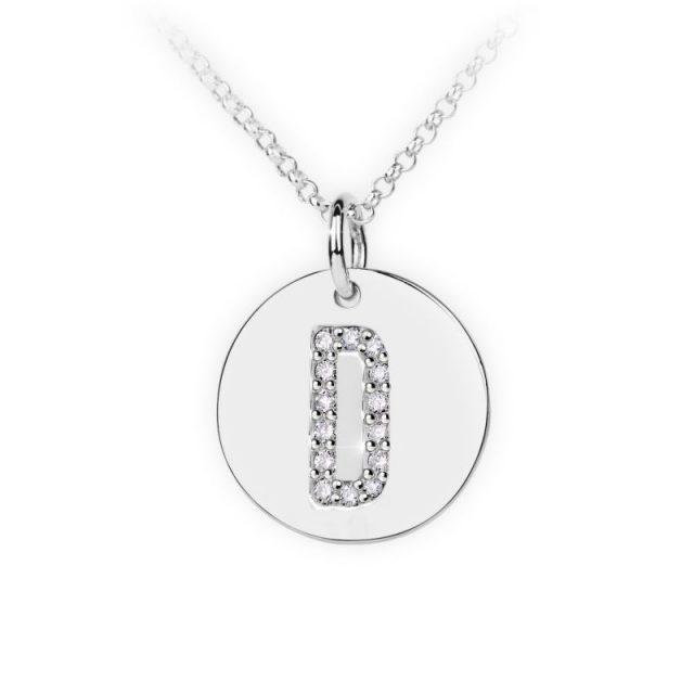Danfil přívěsek DF 4483 z bílého zlata – písmeno D