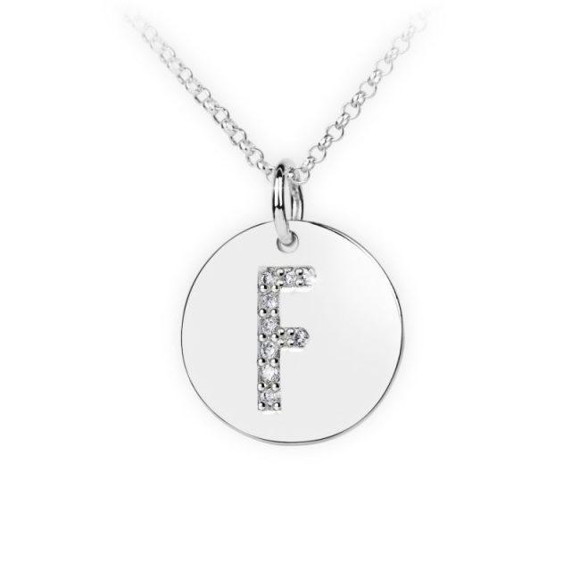 Danfil přívěsek DF 4485 z bílého zlata – písmeno F