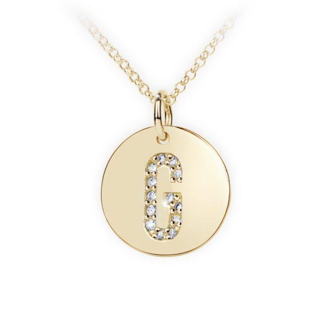 Danfil přívěsek DF 4486 ze žlutého zlata – písmeno G