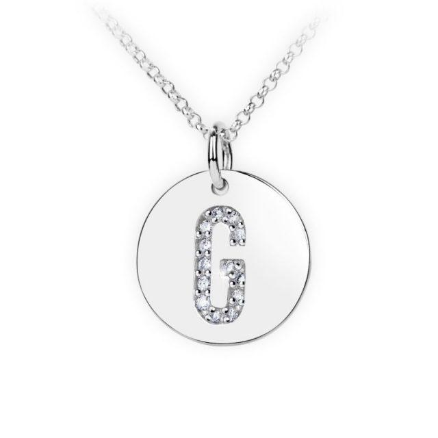 Danfil přívěsek DF 4486 z bílého zlata – písmeno G