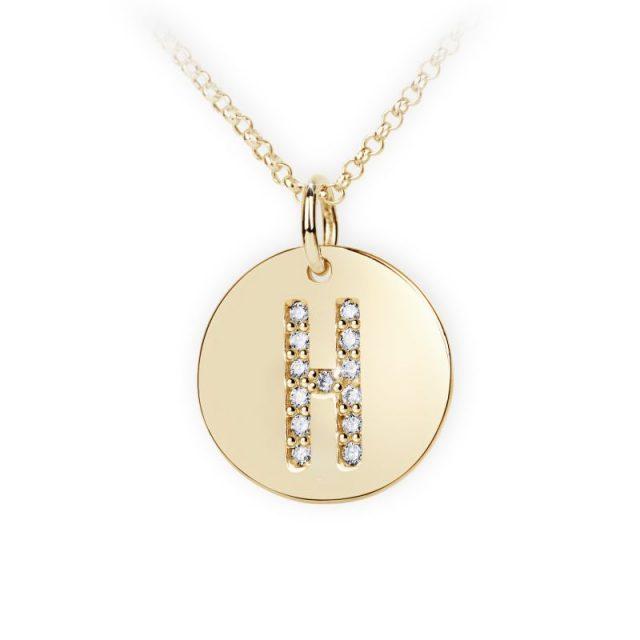 Danfil přívěsek DF 4487 ze žlutého zlata – písmeno H