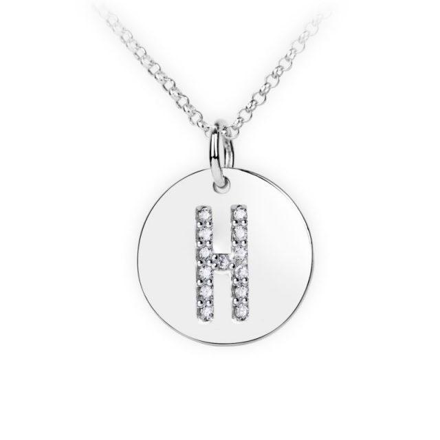 Danfil přívěsek DF 4487 z bílého zlata – písmeno H