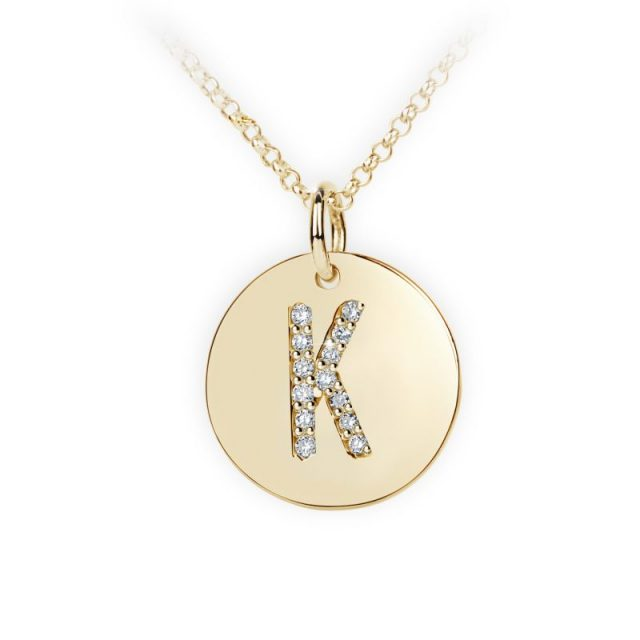 Danfil přívěsek DF 4490 ze žlutého zlata – písmeno K