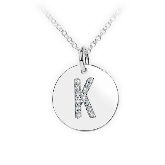 Danfil přívěsek DF 4490 z bílého zlata – písmeno K