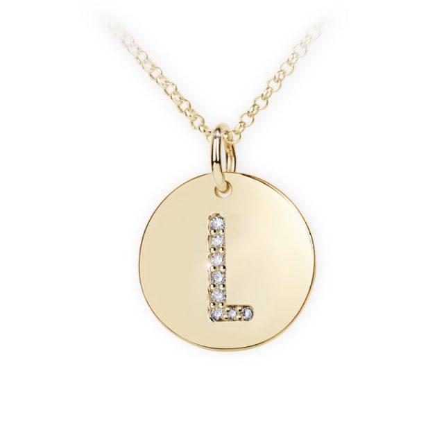Danfil přívěsek DF 4491 ze žlutého zlata – písmeno L