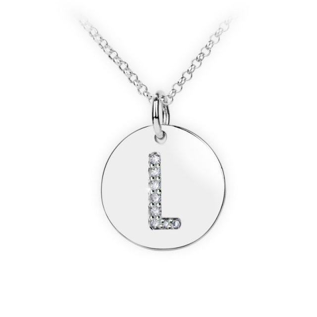 Danfil přívěsek DF 4491 z bílého zlata – písmeno L
