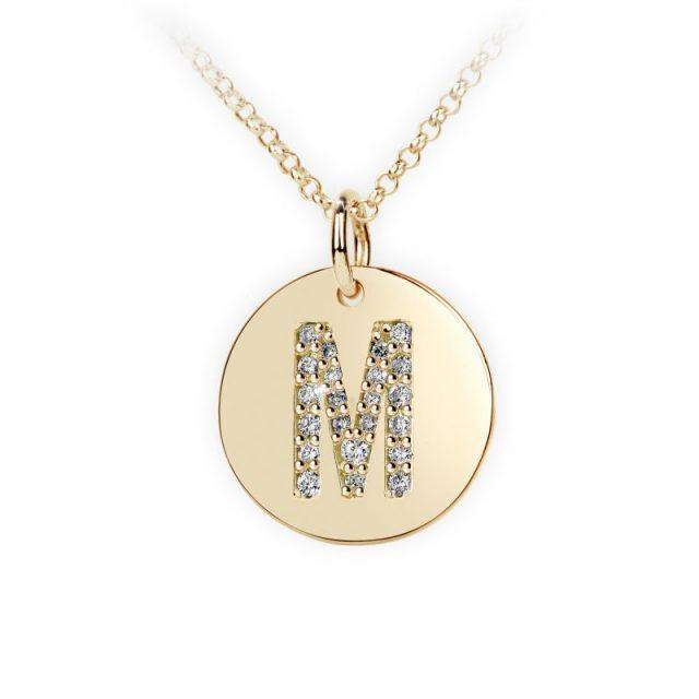 Danfil přívěsek DF 4492 ze žlutého zlata – písmeno M