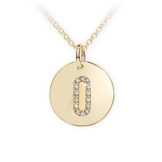 Danfil přívěsek DF 4494 ze žlutého zlata – písmeno O