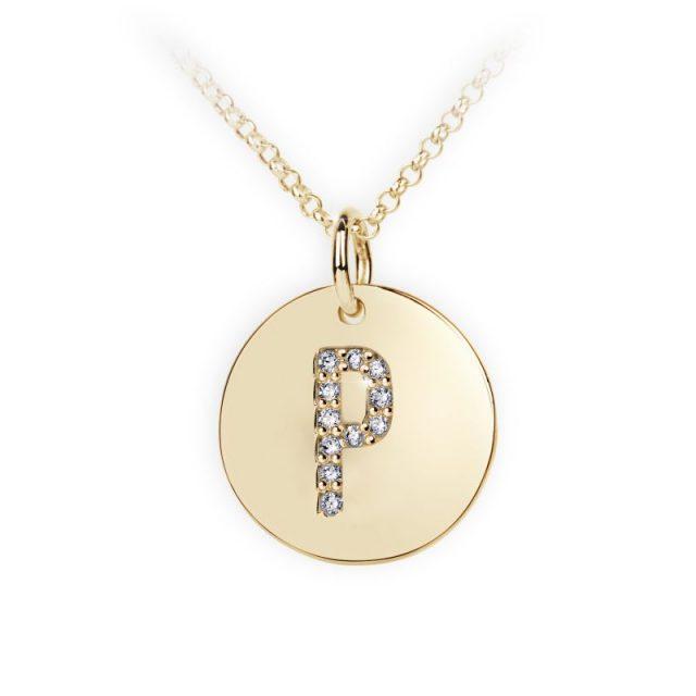 Danfil přívěsek DF 4495 ze žlutého zlata – písmeno P
