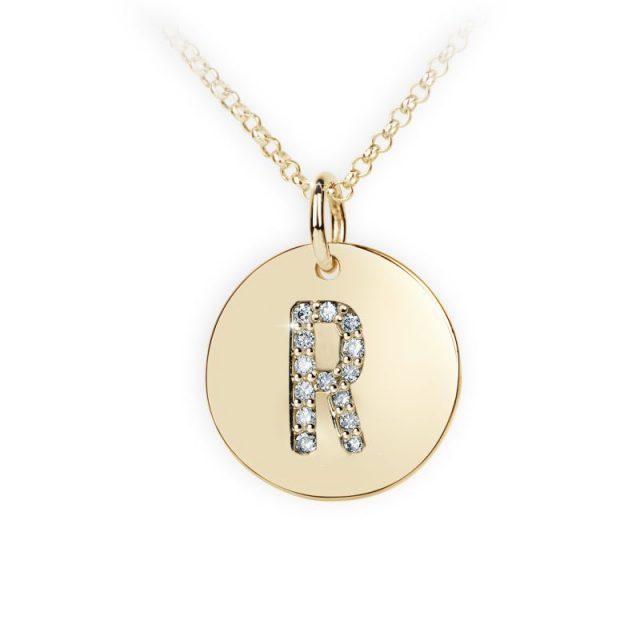 Danfil přívěsek DF 4497 ze žlutého zlata – písmeno R