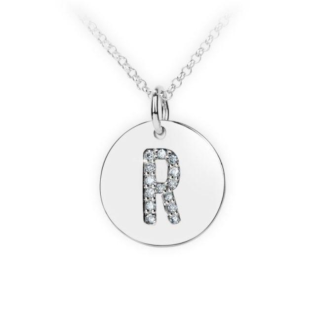 Danfil přívěsek DF 4497 z bílého zlata – písmeno R