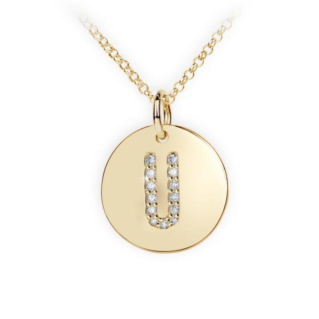 Danfil přívěsek DF 4500 ze žlutého zlata – písmeno U