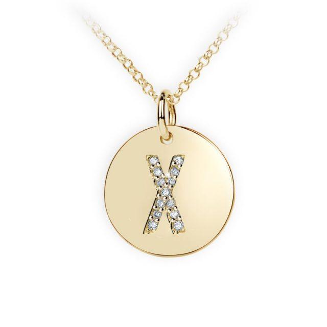 Danfil přívěsek DF 4503 ze žlutého zlata – písmeno X
