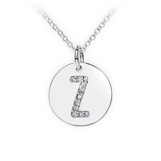 Danfil přívěsek DF 4505 z bílého zlata – písmeno Z