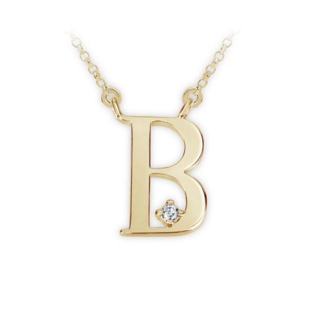Danfil přívěsek DF 4507 ze žlutého zlata – písmeno B