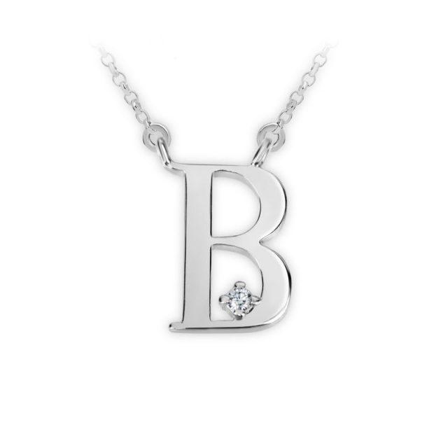 Danfil přívěsek DF 4507 z bílého zlata – písmeno B