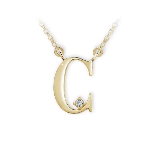 Danfil přívěsek DF 4508 ze žlutého zlata – písmeno C