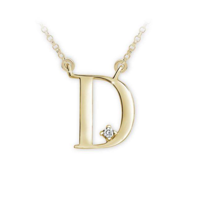 Danfil přívěsek DF 4509 ze žlutého zlata – písmeno D