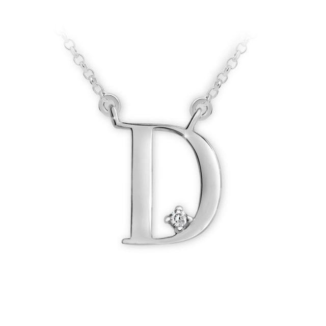 Danfil přívěsek DF 4509 z bílého zlata – písmeno D