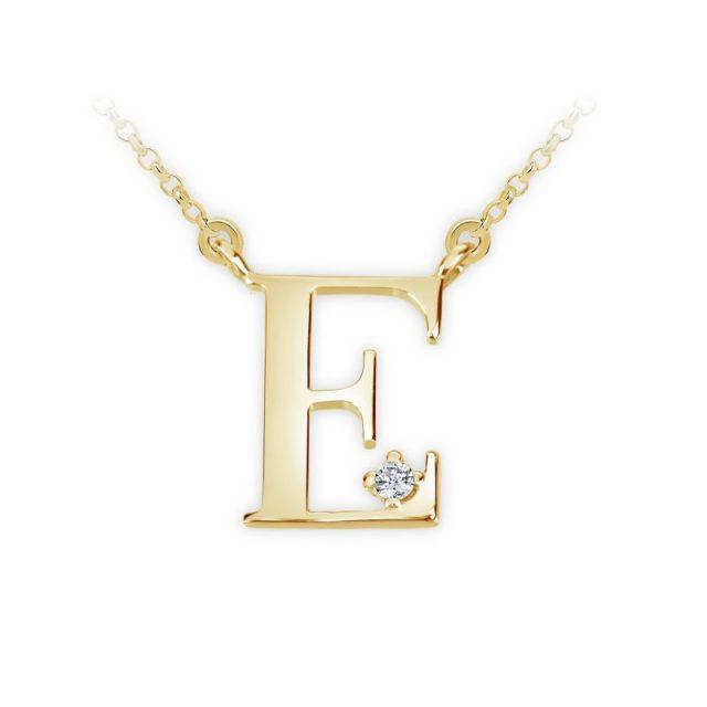 Danfil přívěsek DF 4510 ze žlutého zlata – písmeno E